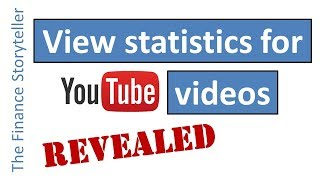 How to view statistics for a YouTube video