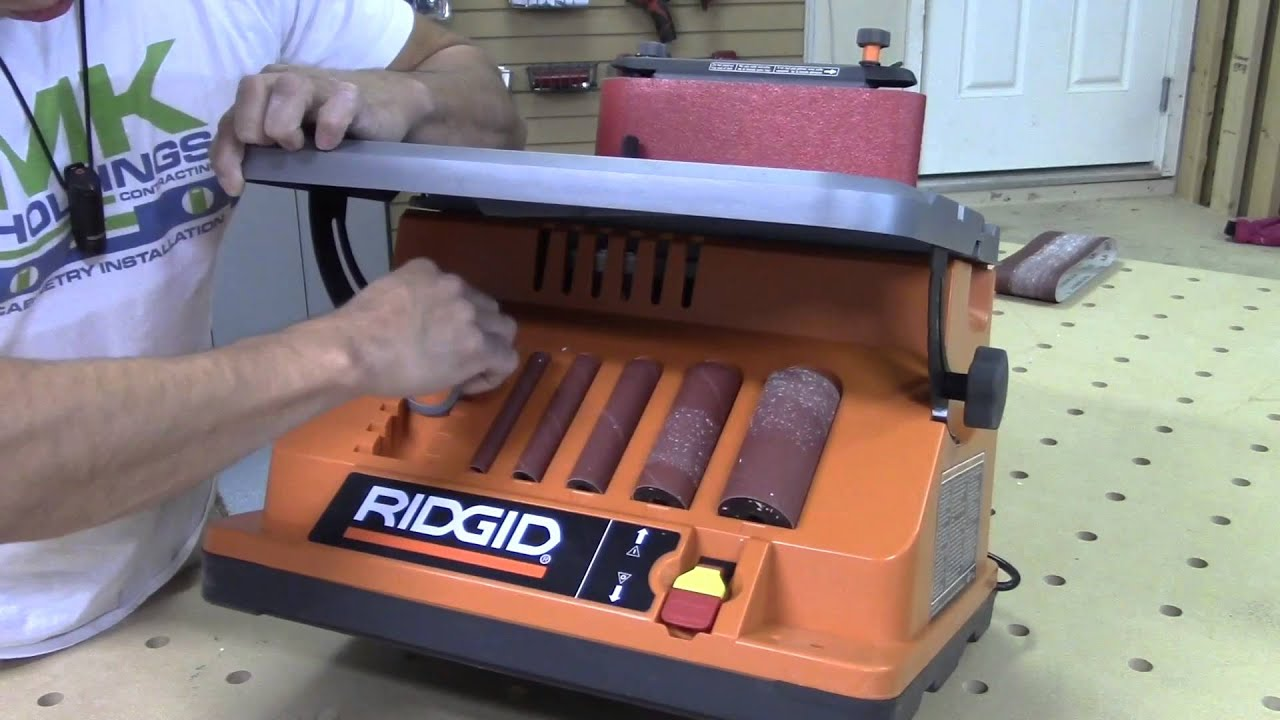 mesa lijadora de banda y de husillo de la marca ridgid