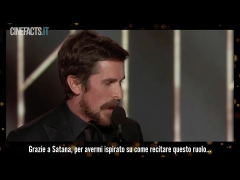 Il discorso di Christian Bale ai Golden Globes 2019 #CineFacts