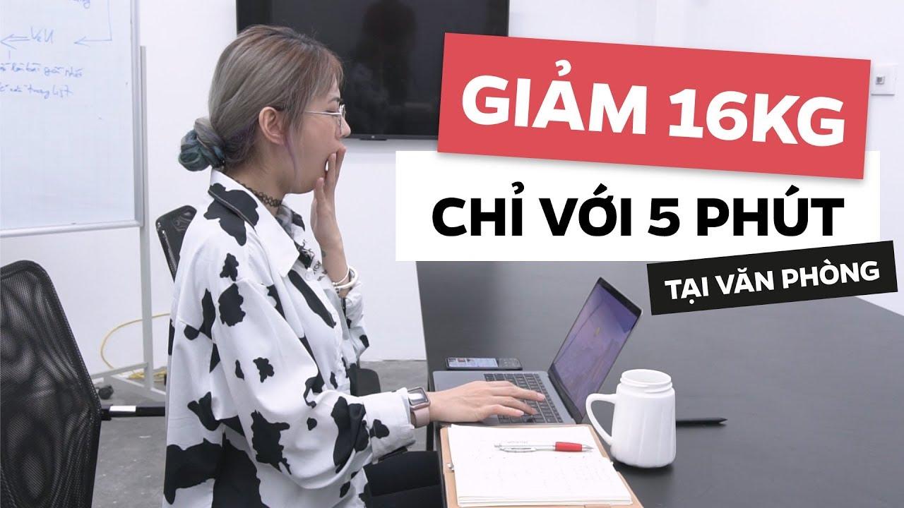 CÁC BÀI TẬP GIẢM CÂN CHỈ VỚI 5 PHÚT TẠI VĂN PHÒNG | Office Workout | Lê Bống Channel