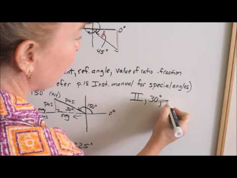 Lesson 7 - Negative Angles & Reference Angles