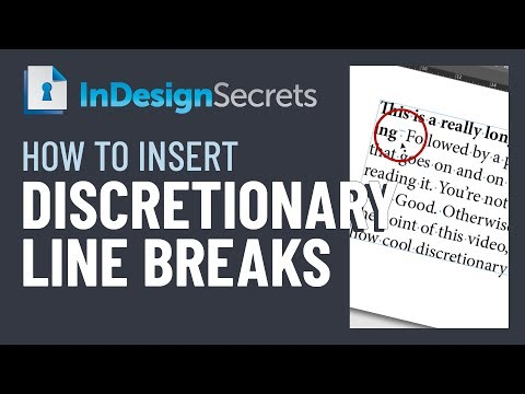 InDesign How-to Video: Using Discretionary Line Breaks