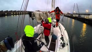 Sailing the North Sea at night