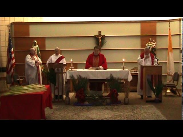 2020 April 4th -Palm Sunday Mass Celebrated at Holy Family Parish
