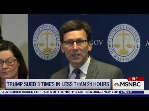 WA State AG Bob Ferguson Lays Out Lawsuit Against Muslim Ban 2.0