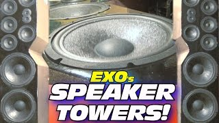DIY Home Speaker Towers... PLAYING Upbeat Electronic Dance Music w/ EXO's Floor Standing Speakers