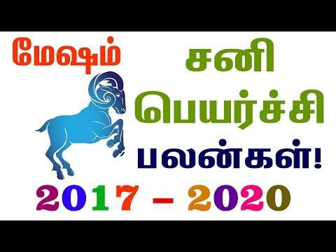 மேஷம் சனிப் பெயர்ச்சி பலன்கள் 2017 முதல் 2020 வரை! Mesham sani peyarchi palangal 2017 to 2020!