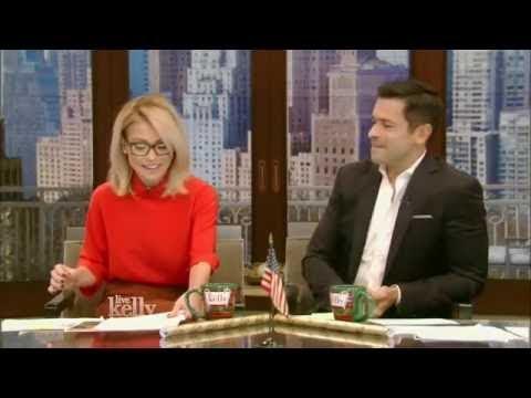 {Live With Kelly} co host Mark Consuelos Liev Schreiber; Matt Czuchry  {12 01 2016}