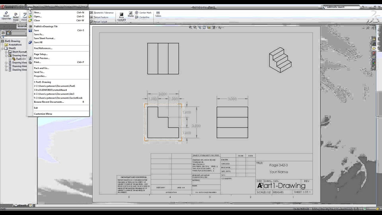 How to Save Solidworks Drawing as a PDF