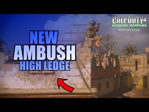 MWR - *NEW* High Ledge On AMBUSH! (COD 4 Remastered)