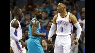 Russell Westbrook Hits Filthy ShammGod To Close Out The Game Vs. Hornets