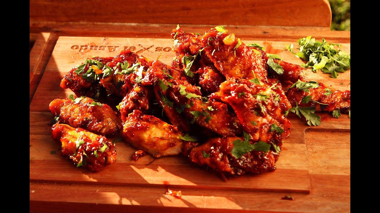 Alitas de pollo con salsa picante receta locos x el - Salsa para pollos asados ...