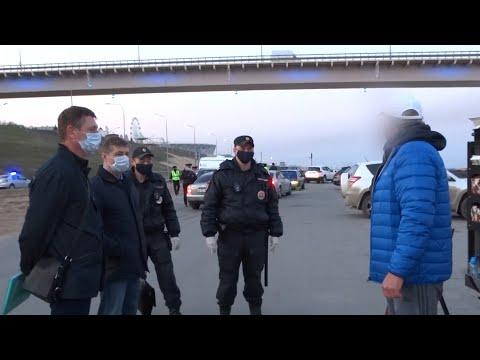 На набережной Волгограда проверили соблюдение режима самоизоляции