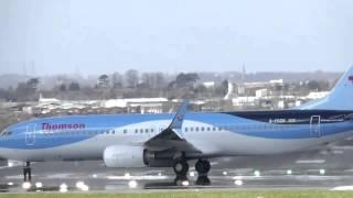 Birmingham Airport BHX Crosswind Takeoff