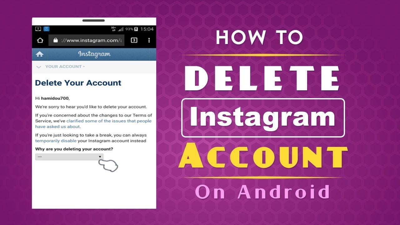 how to permantely delete instagram