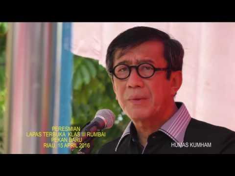 Menteri Hukum dan HAM Meresmikan Lapas Terbuka Klas III Rumbai