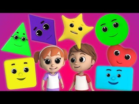 Luke & Lily - Shapes song | Nursery Rhymes | Kids songs | Childrens  songs