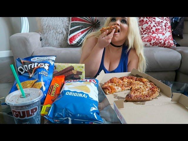 MY FAVORITE JUNK FOOD MUKBANG (EATING SHOW)   WATCH ME EAT!