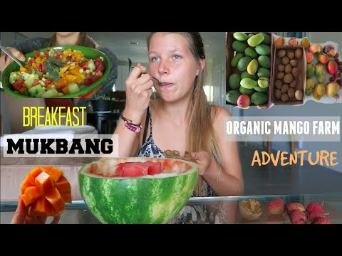 ORGANIC MANGO FARM + Breakfast MUKBANG || WHAT I EAT [VEGAN]