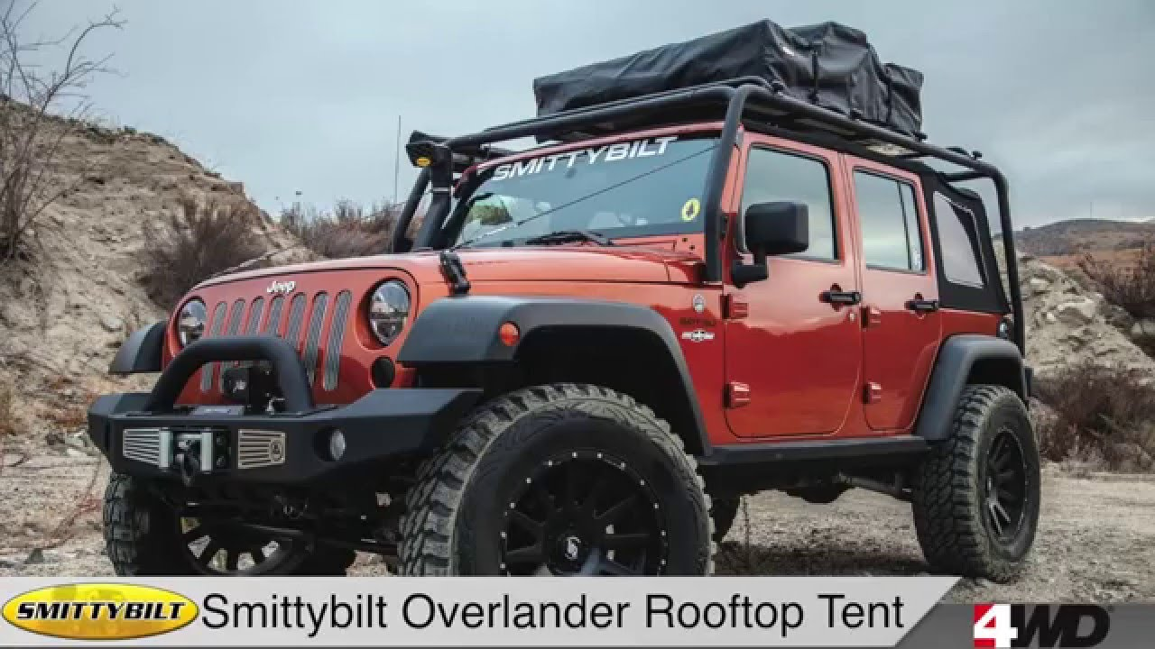 Day 7 Smittybilt Overlander Rooftop Tent/Bolt Lock Jeep JK Hood Lock ON SALE 12/13/15 ONLY - YouTube : jeep wrangler tent - memphite.com