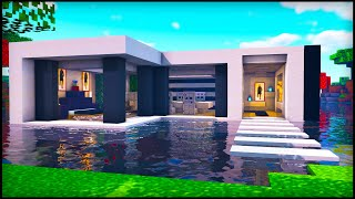 Minecraft: Water Modern House | How to build a Cool Modern House on Water Tutorial