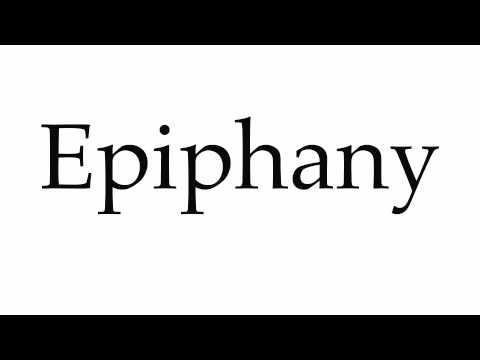 How to Pronounce Epiphany - YouTube