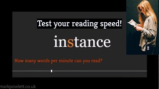How Fast Can You Read Speed Reading Test