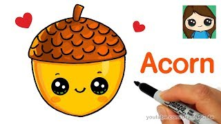 How to Draw a Cute Acorn Easy