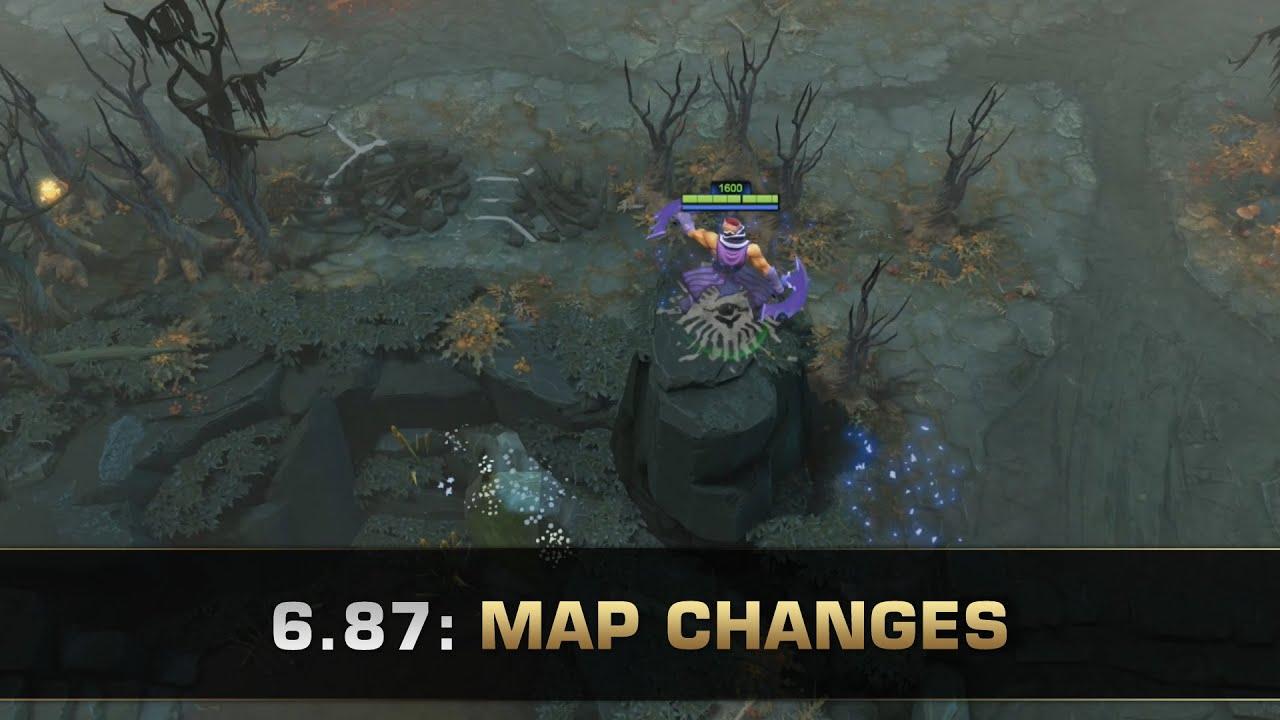 dota 2 6 87 map changes youtube