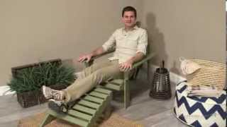 Coral Coast Sage Green Painted Acacia Adirondack Chair With Ottoman - Product Review Video