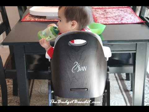 svan baby to booster high chair review youtube