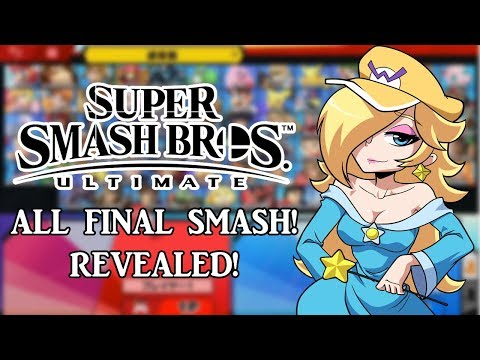 TODAS LAS SMASH FINAL REVELADAS!   SUPER SMASH BROS ULTIMATE (DESCRIPCIÓN) thumbnail