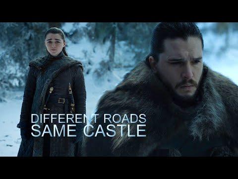 Arya & Jon // Different Roads, Same Castle