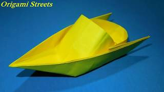 Как сделать катер из бумаги. Оригами катер из бумаги. Origami boat