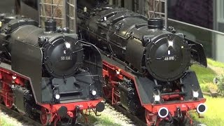 Modellbahnmesse Köln 2014 - Große Spur - K M 1 Modellbau u. MBW Spur 0 - Model railway exhibition