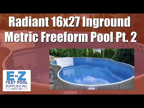 16x27 Inground Metric Freeform Radiant Pool Pt 2 Youtube