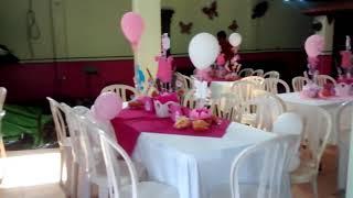 Baixar Decoración Baby shower Niña  Flores y Mariposas