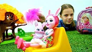 Салон красоты - Куклы Энчантималс. Мультики с игрушками