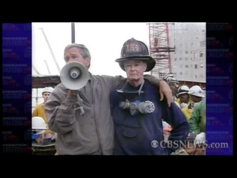 From CBS News archives: Bush visits ground zero days after 9/11