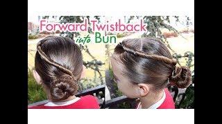 Forward Twistback into Bun | Updos | Cute Girls Hairstyles