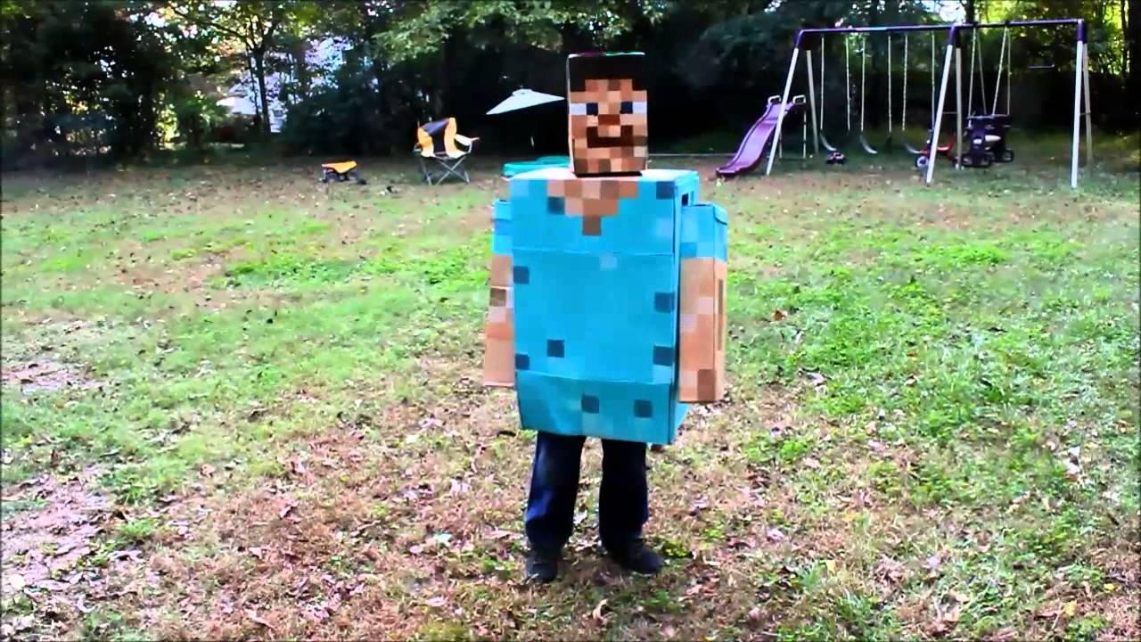 halloween minecraft costume - youtube