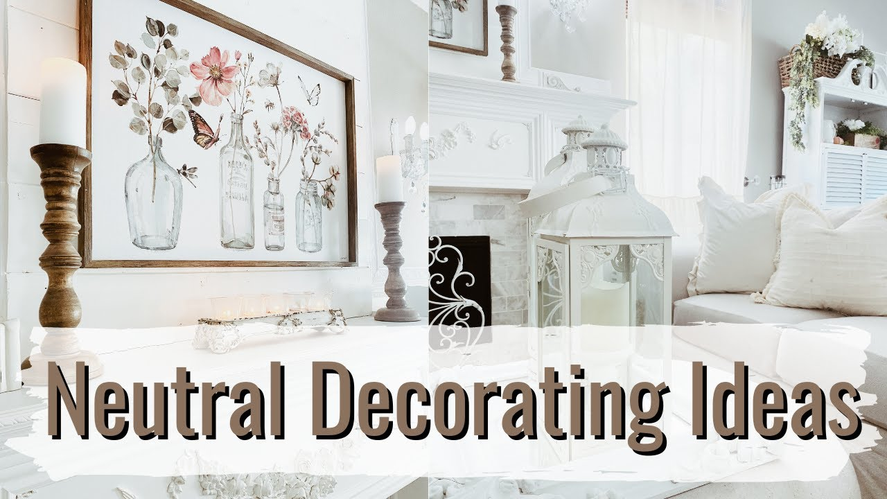 NEUTRAL DECORATING IDEAS | CLEAN + DECORATE WITH ME | FAMILY-ROOM REFRESH | Monica Rose
