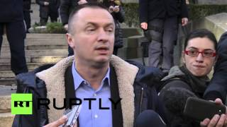 Serbia: Farmers protest new land-sale legislation in front of Serbian Assembly