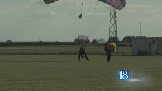 Two taken to hospital after skydiving accident
