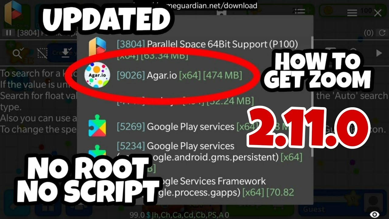 *NEW* NO ROOT ZOOM TUTORIAL FOR 2.11.0 | Agario Mobile, How to get Zoom Android, Zoom Hack Agar.io