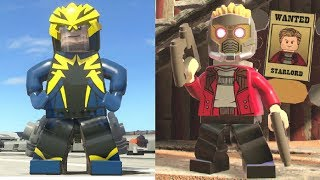 Evolution of Star-Lord in LEGO Marvel Videogames