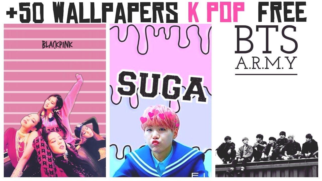 +50 WALLPAPERS K-POP | GRATIS | FREE | DOWNLOAD - YouTube