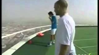 burj al arab - tennis court -andre agassi v/s roger federer
