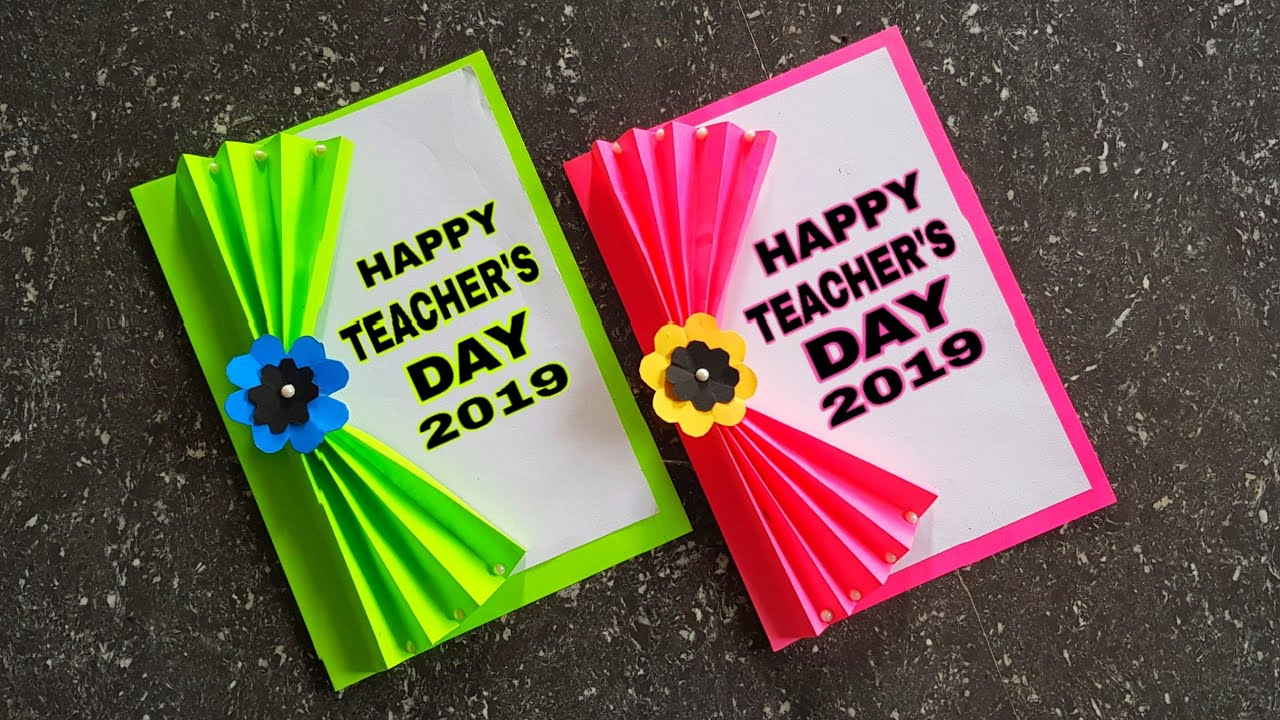 diy teachers day card  handmade simple teachers day card
