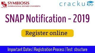 SNAP 2019 Notification - Online Application - Important Video
